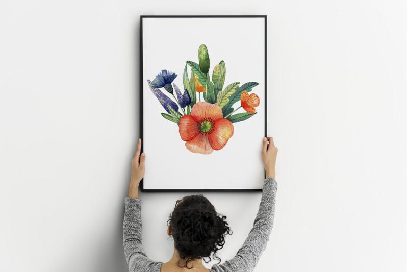 watercolor-wildflowers