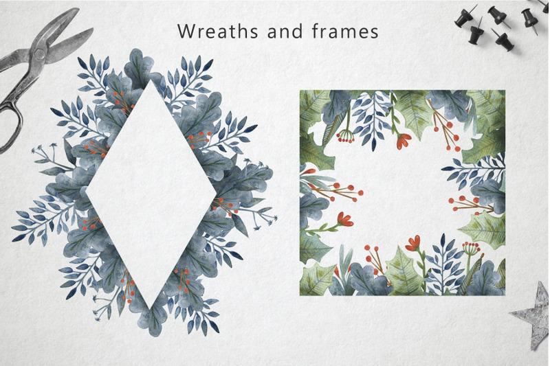 merry-christmas-watercolor-set