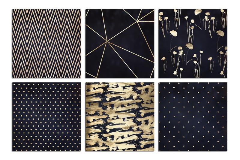 gold-navy-blue-textures