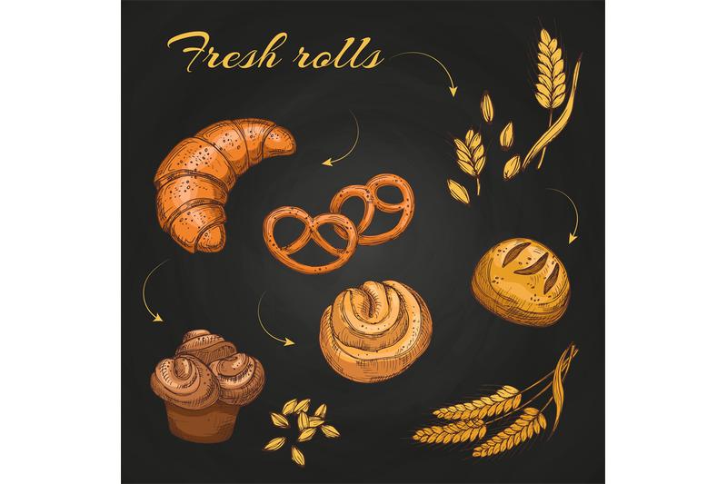 rolls-and-buns-on-blackboard-chalkboard-bakery-cafe-menu-vector-templ