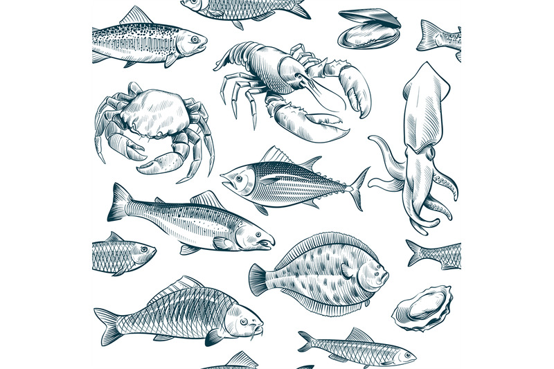 sketch-seafood-seamless-pattern-oyster-salmon-lobster-shellfish-hand