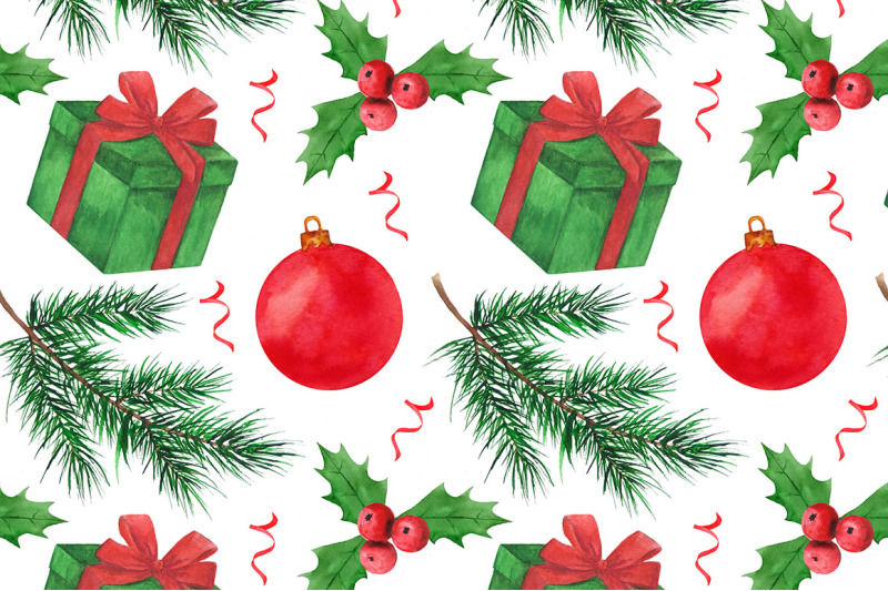 christmas-watercolor-patterns