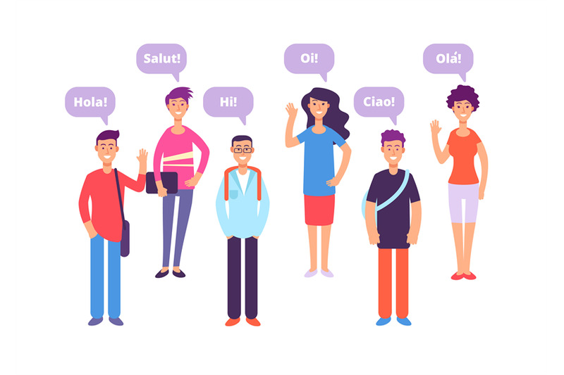 foreign-language-concept-students-greeting-in-english-french-german-j