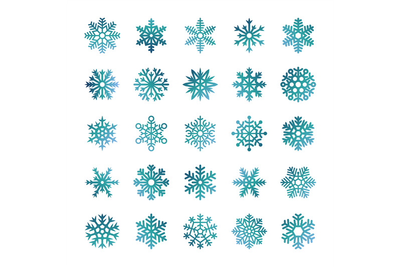 colorful-vector-snowflakes-isolated-on-white-background