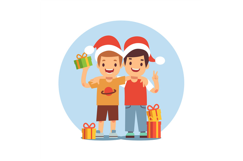 two-cartoon-boys-celebrate-christmas-and-new-year