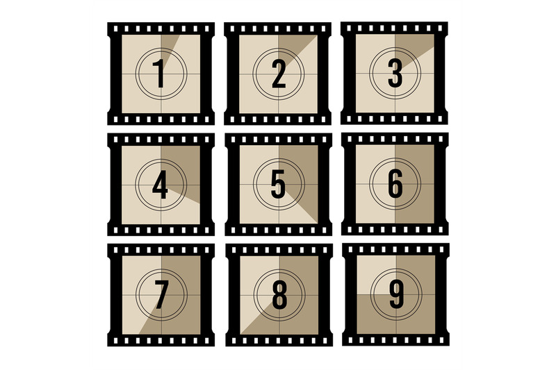 movie-countdown-old-projector-film-timer-counter-vector-vintage-film