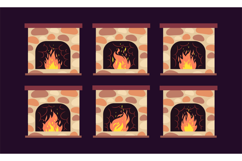 fireplace-animation-home-retro-fireplaces-with-fire-cartoon-christma