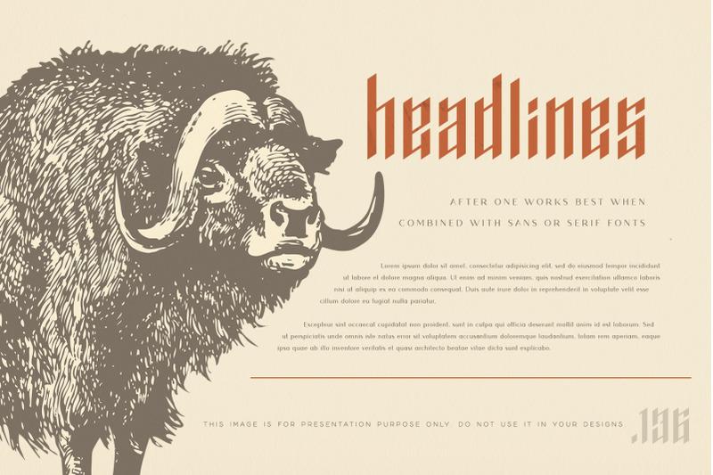after-one-blackletter-inspired-font
