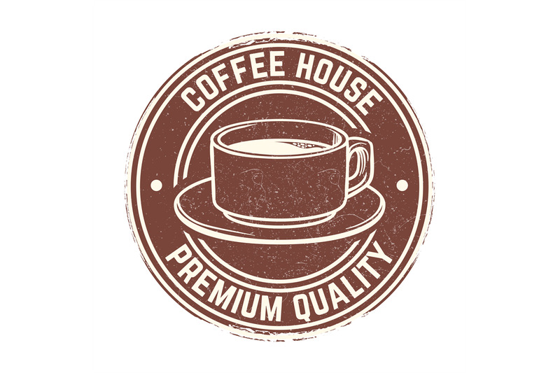 round-banner-with-coffee-cup-with-grunge-effect