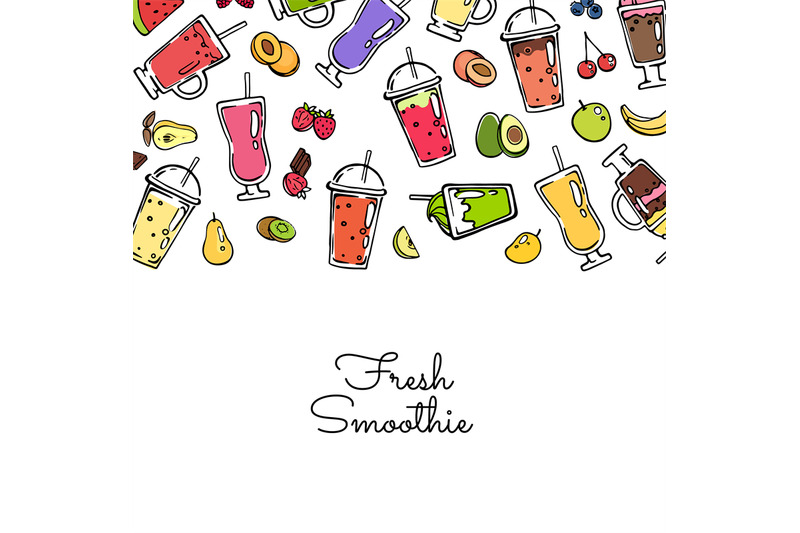 vector-doodle-colored-smoothie-drink-background-illustration