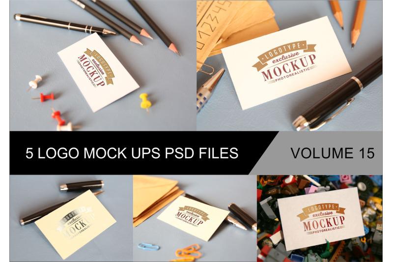 Free Photo Realistic Mock-ups Set of 5 V15 (PSD Mockups)