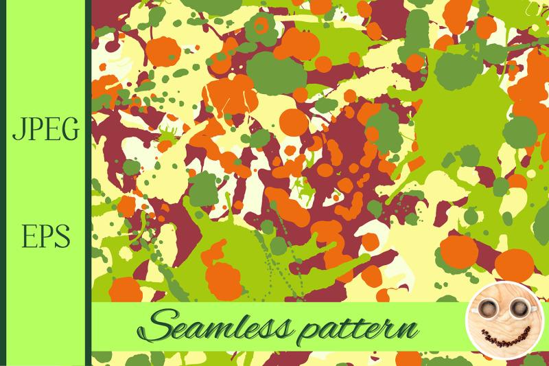 maroon-orange-yellow-green-ink-paint-splashes-seamless-pattern