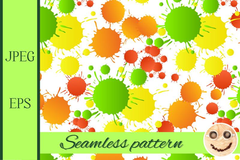 green-yellow-red-orange-watercolor-drops-seamless-pattern
