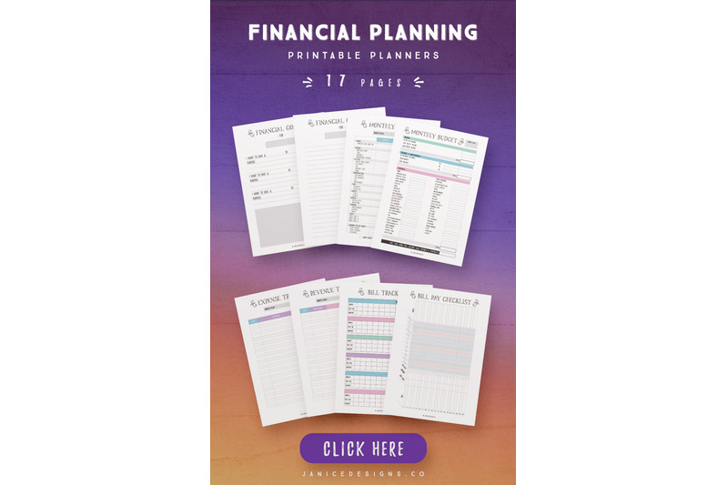financial-planning-printables-17-pages