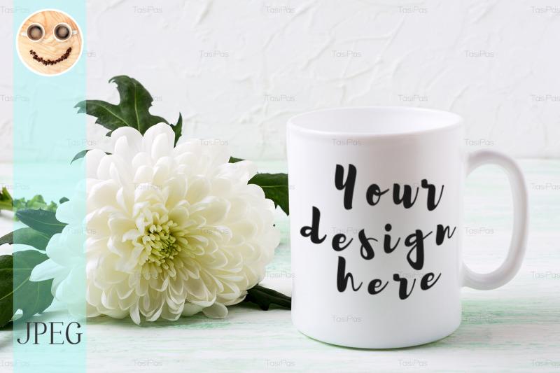 white-coffee-mug-mockup-with-chrysanthemum