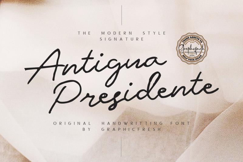 antigua-presidente-script-font