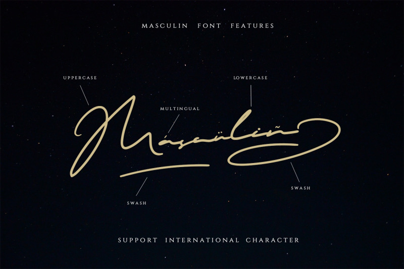 masculin-the-real-signature-font