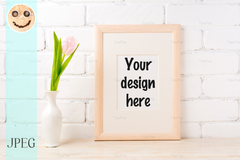 wooden-frame-mockup-with-pale-pink-tulip-in-vase