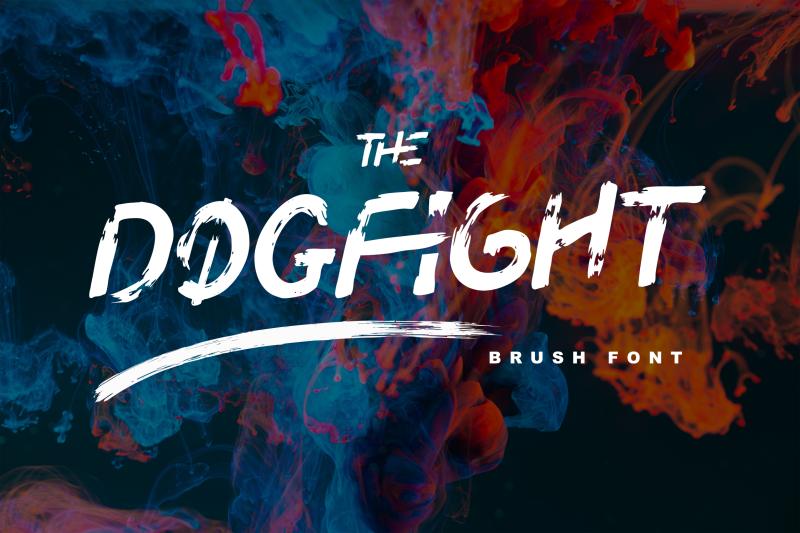 dogfight-brush-font