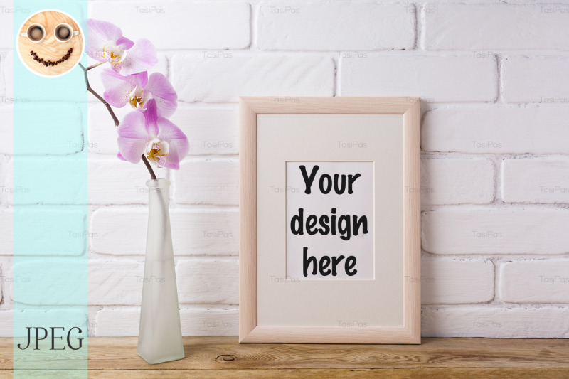 wooden-frame-mockup-with-tender-pink-orchid