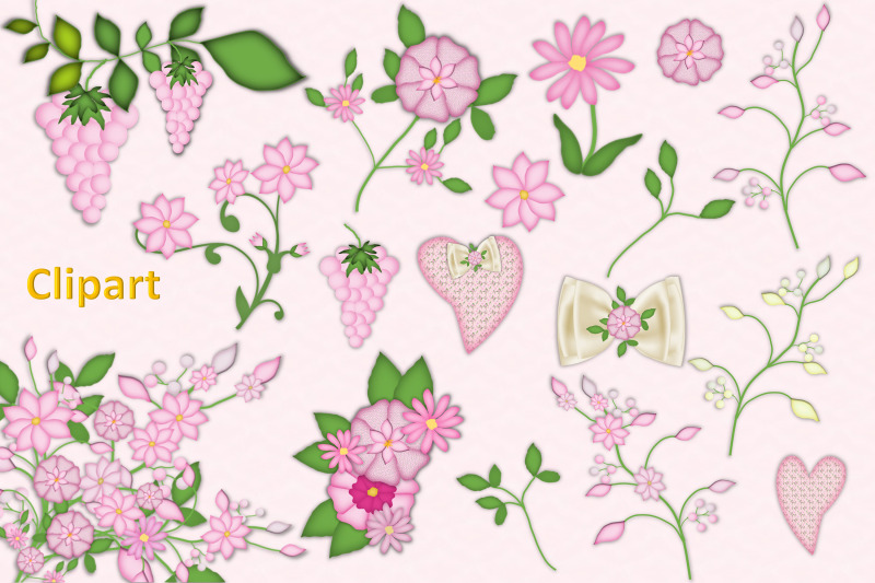 new-baby-girl-clipart-and-backgrounds-bundle