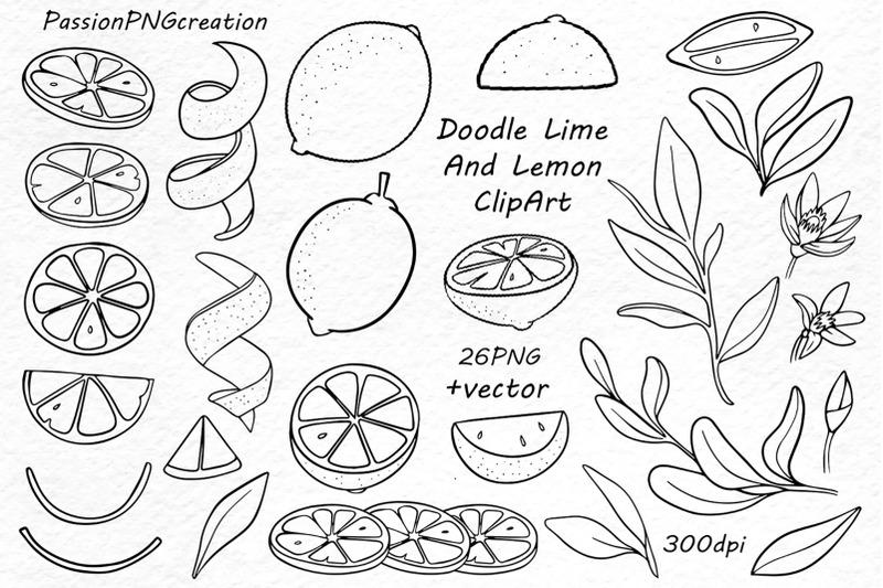 doodle-lime-lemon-clipart