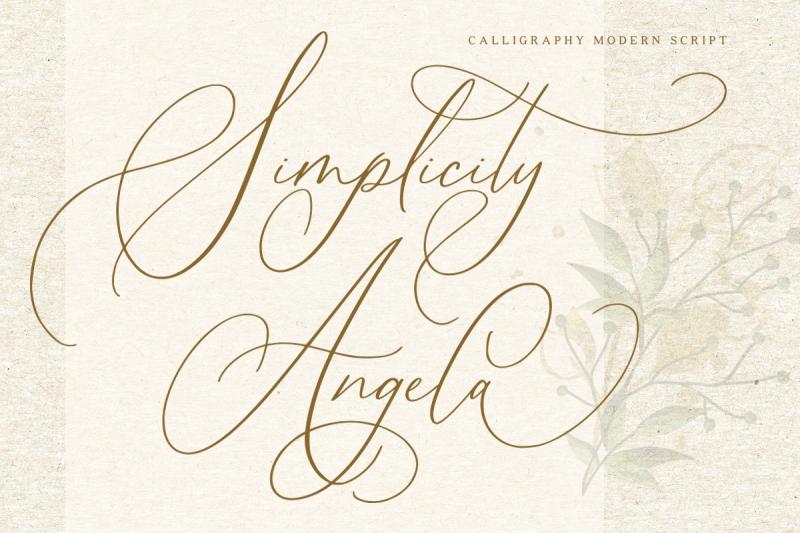 simplicity-angela-calligraphy-font