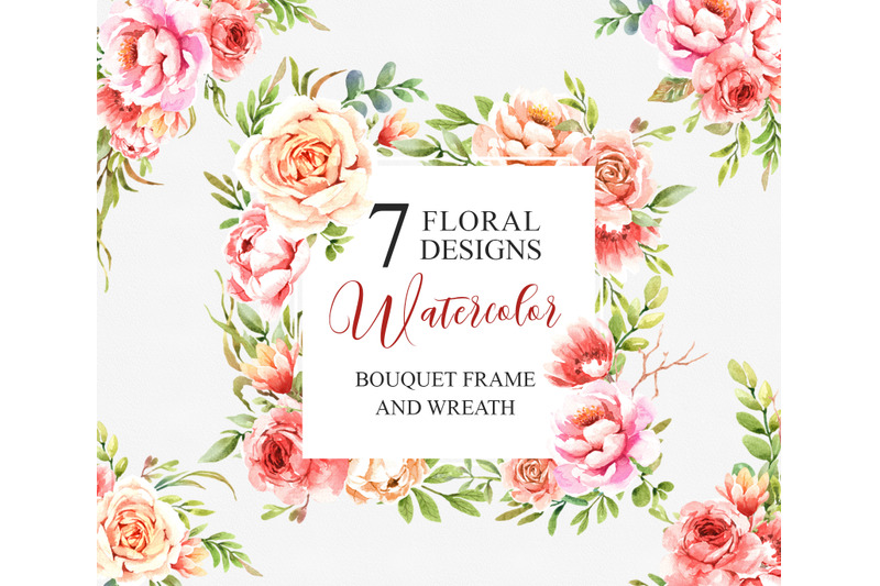 flower-watercolor-clipart-bouquets-frames-and-wreath-individual