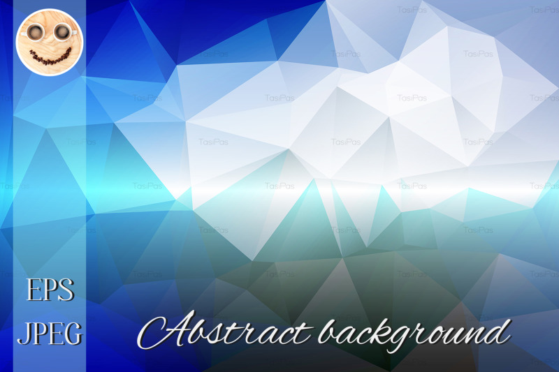 white-blue-shades-low-poly-background