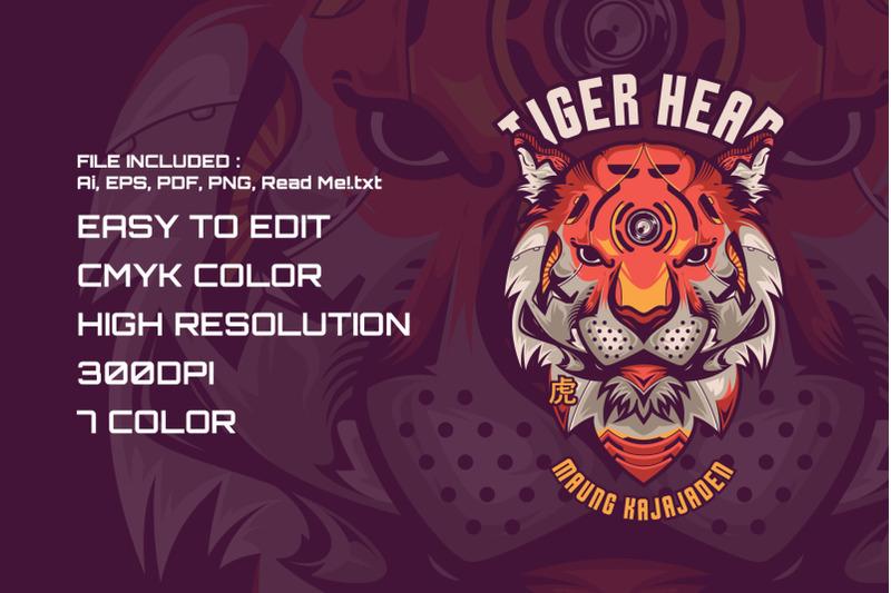 tiger-head-t-shirt-illustration