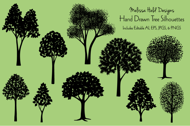 hand-drawn-tree-silhouettes