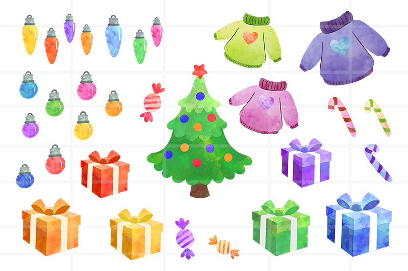 Christmas Clipart By Fox Shop Thehungryjpeg Com