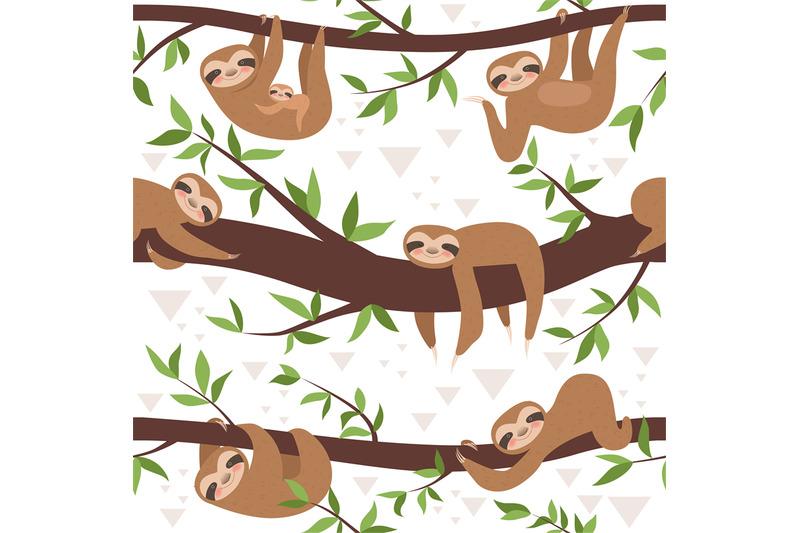 sloth-seamless-cute-little-sleepy-baby-animal-textile-pattern-family
