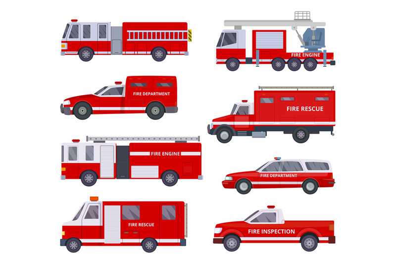 fire-engine-collection-with-red-emergency-department-lighting-service