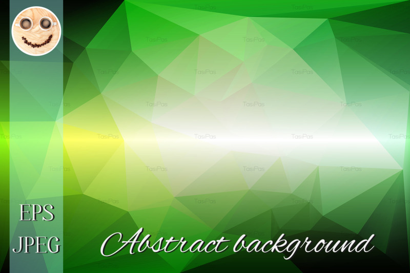 light-green-shades-low-poly-background
