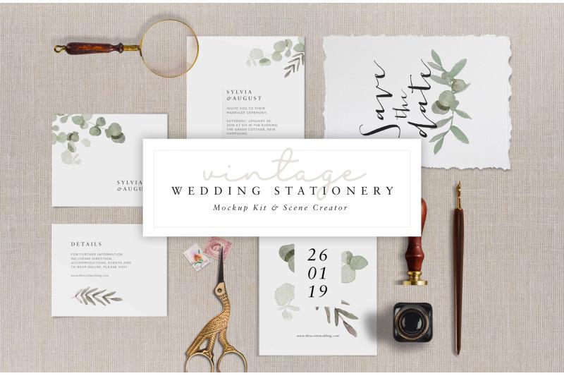 Free Wedding Stationery (Mockup Kit) (PSD Mockups)