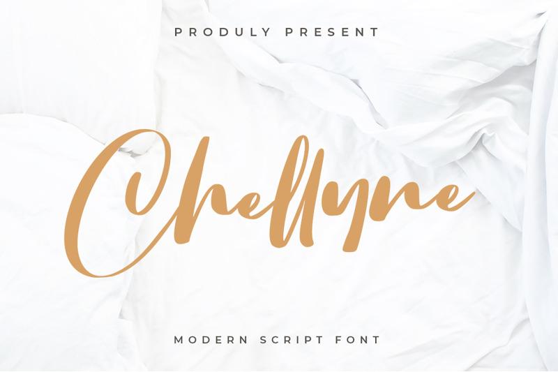 chellyne-modern-script-font