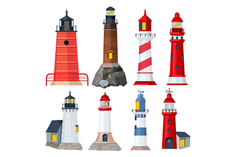 lighthouses-collection-night-sailing-building-in-seaport-security-sea
