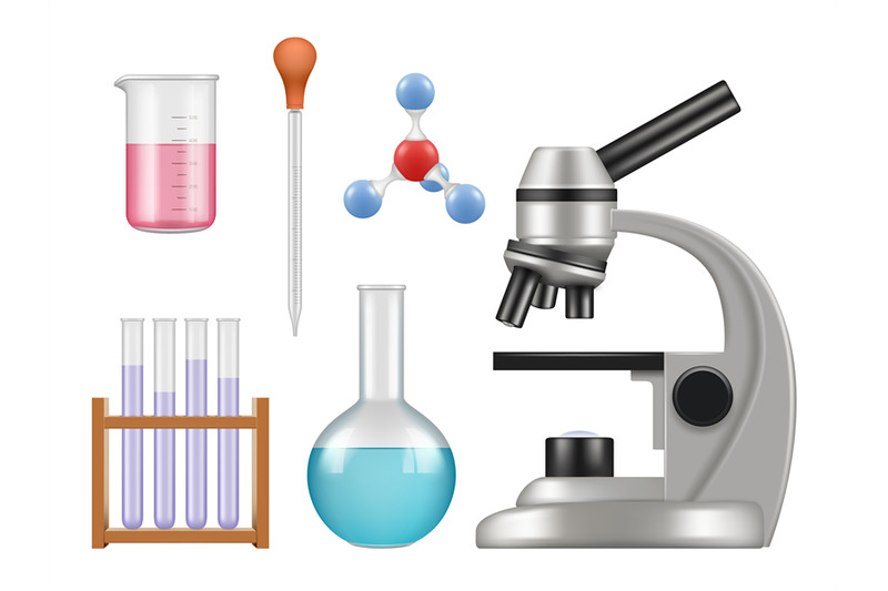 chemical-lab-items-science-laboratory-collection-bottles-microscope-g