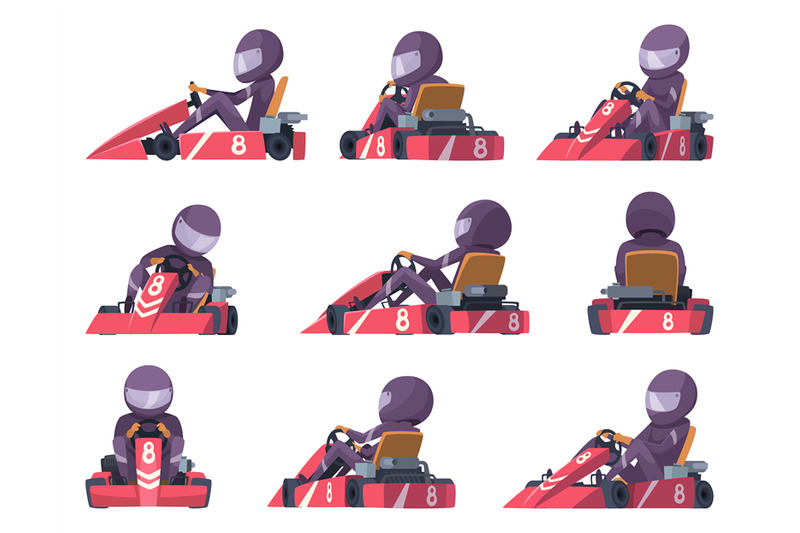 karting-racers-sport-speed-cars-competition-vector-karting-automobile