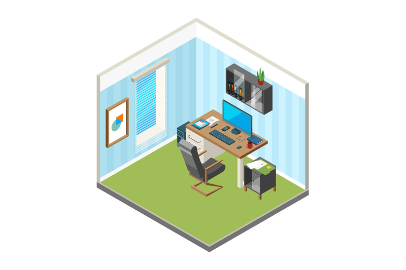 isometric-home-workspace-designer-freelancer-office-workplace-art-pro