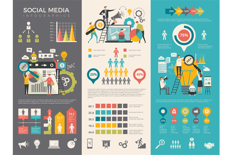 social-media-infographic-work-people-socializing-like-rating-sharing