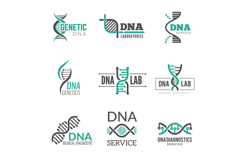 dna-logo-genetic-science-symbols-helix-biotech-vector-business-identi
