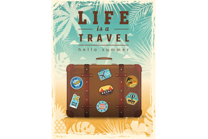 travel-retro-poster-summer-vacation-placard-with-travel-vector-signs