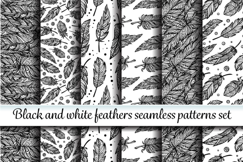 ethnic-feathers-seamless-patterns
