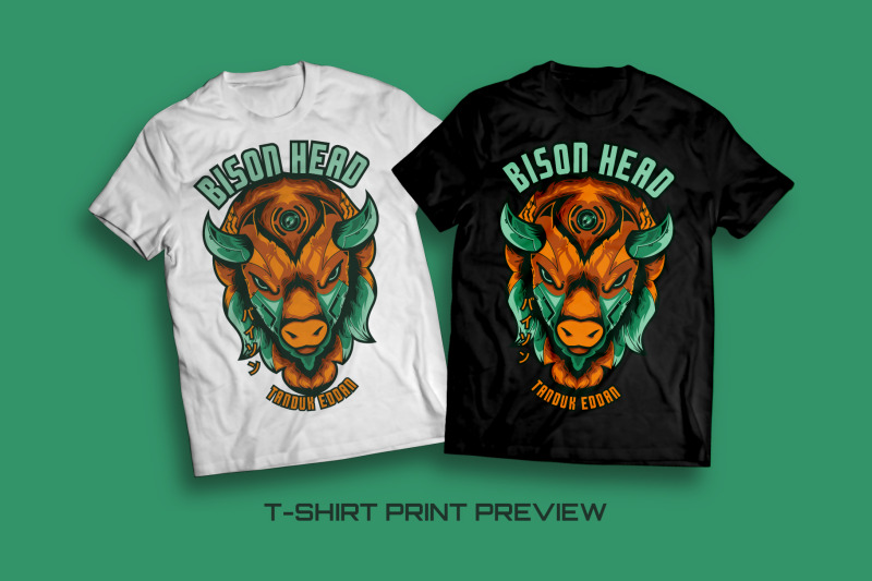 bison-head-t-shirt-illustration