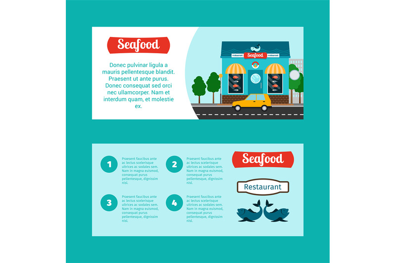 seafood-house-horizontal-flyers