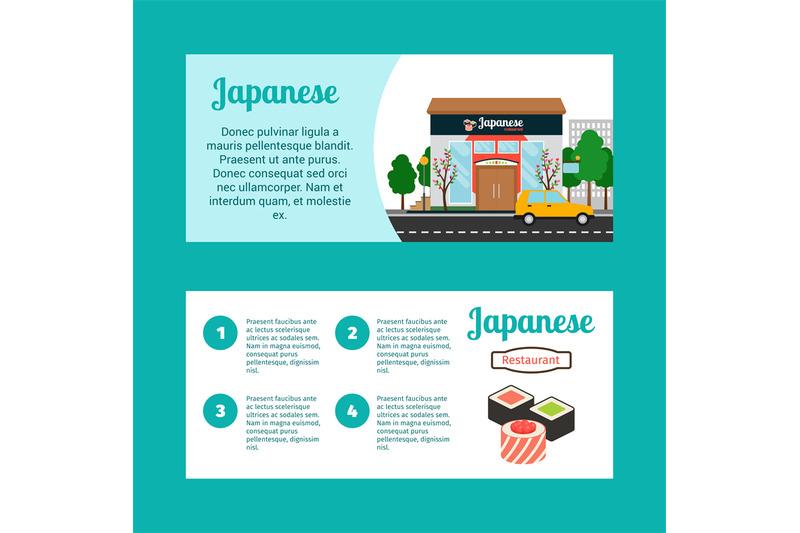 japanese-food-shop-horizontal-flyers