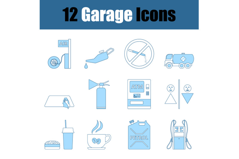 garage-icon-set