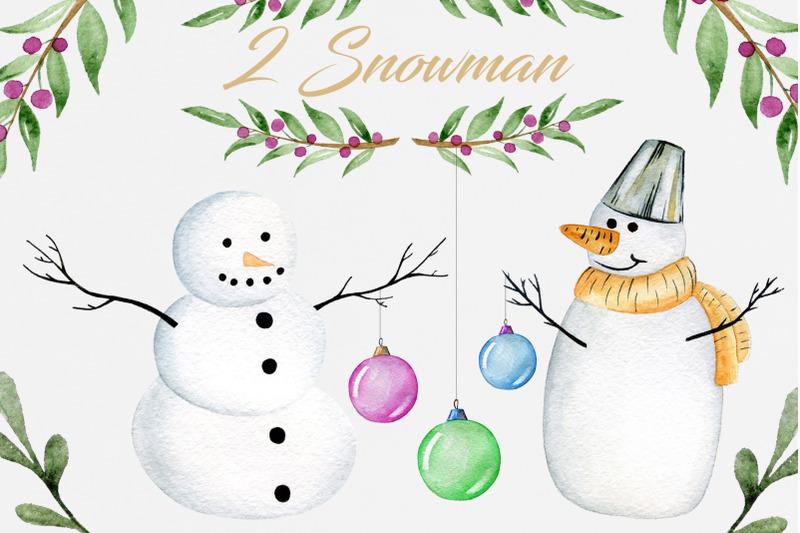 2-watercolor-snowman